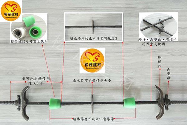 安徽淮北三段式止水螺杆施工技术应用分析
